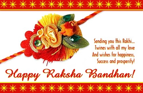 Sending Rakhi Wishes to Cousin Images