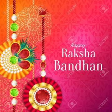 Raksha Bandhan Greeting Card Images