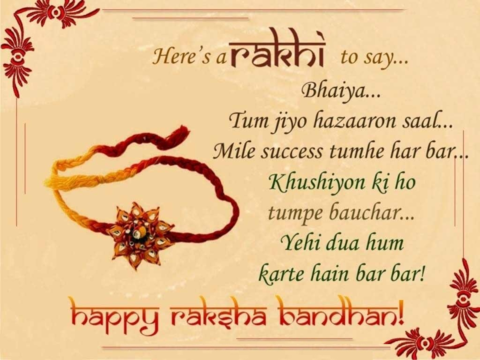 Rakhi Messages for brother in hindi