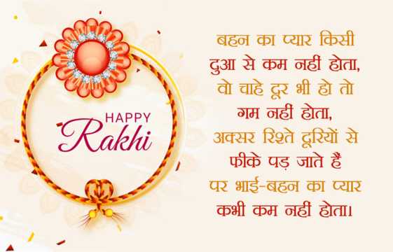 Raksha Bandhan letter from sister to brother in hindi