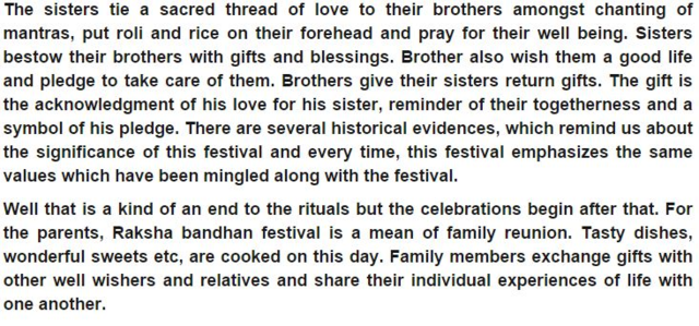 Short Speech on Raksha Bandhan In English