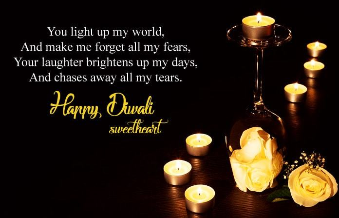 Diwali Message for Love Images
