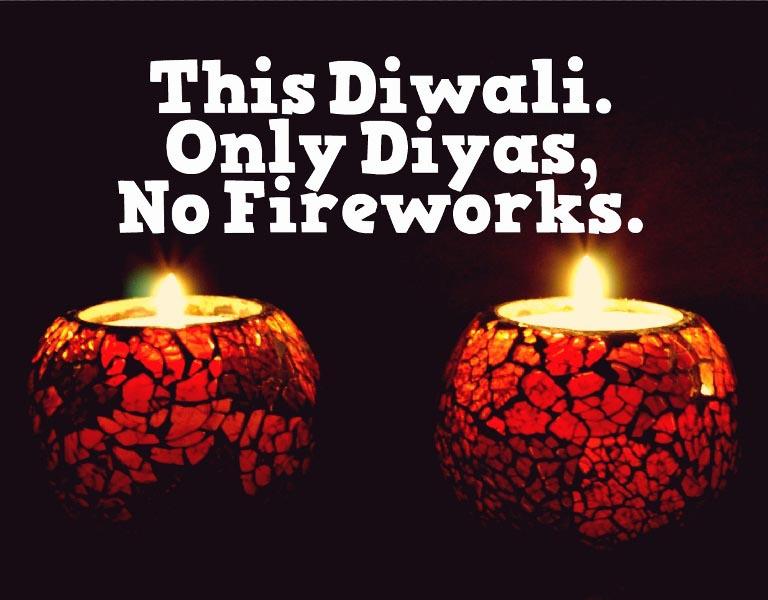 Diwali Only Diyas No Crackers