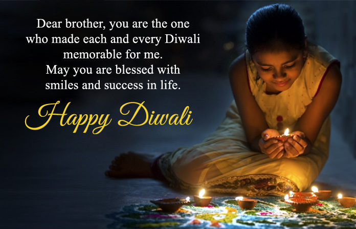 Best Diwali Greeting to Brother in English