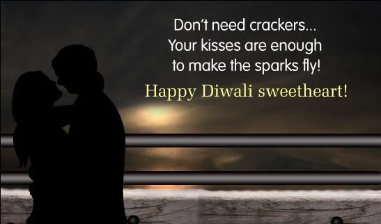 Romantic Diwali Greetings Sweetheart
