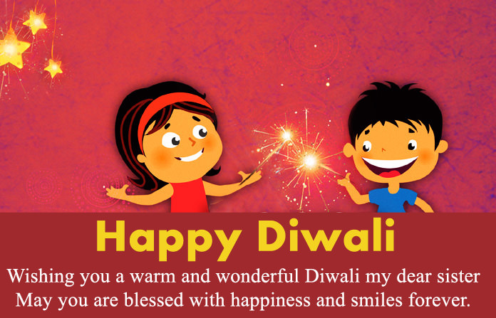 Short Diwali Message in English for Sister