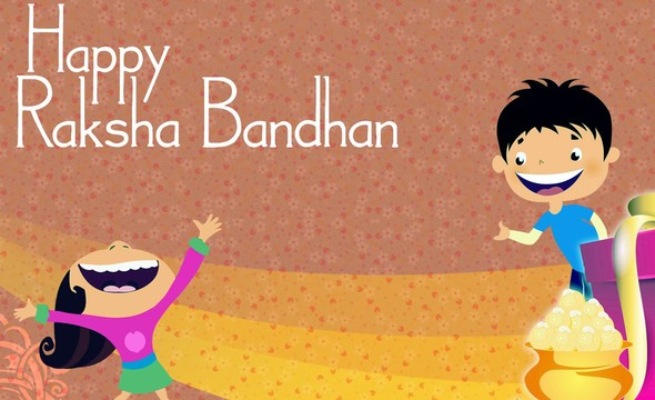 Happy Raksha Bandhan to Sister from Brother HD Wallpaper