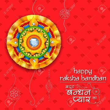 Raksha Bandhan Greeting images for Cousins