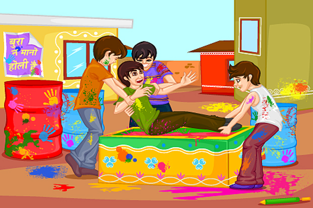 Holi Cartoon Images