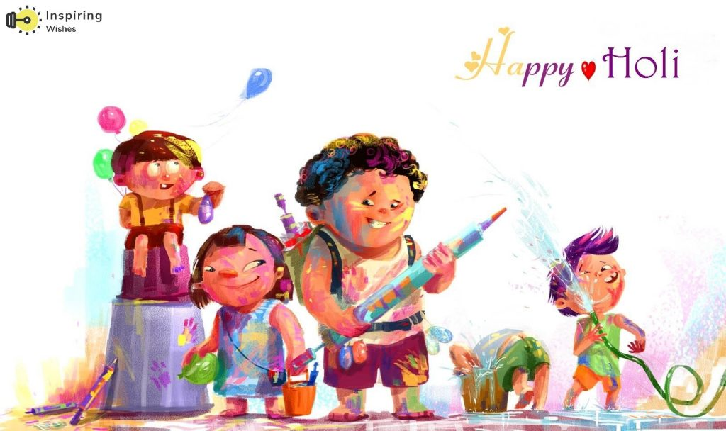 Holi Images for Kids
