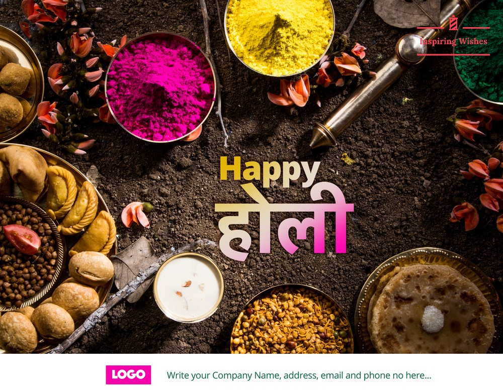 happy holi images with Company name