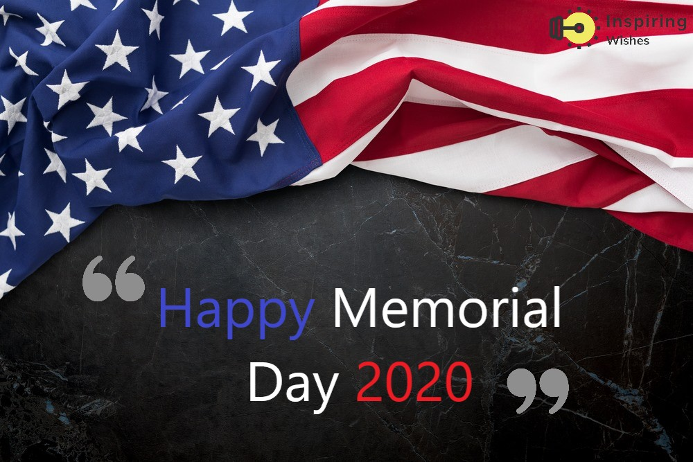 Happy Memorial Day 2020 Flag Image