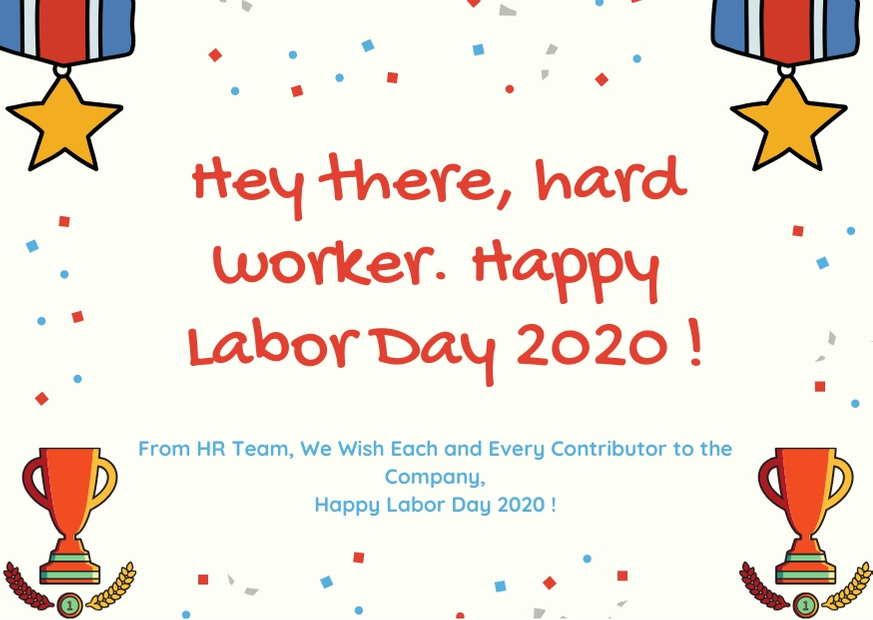 Labor Day Wishes from HR