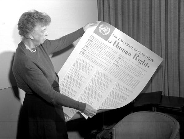 Eleanor Roosevelt Reading Universal Declaration