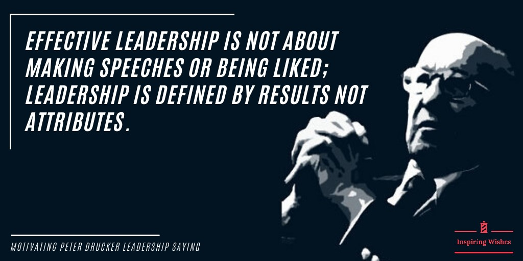 Powerful Leadership Quotes - Peter Drucker