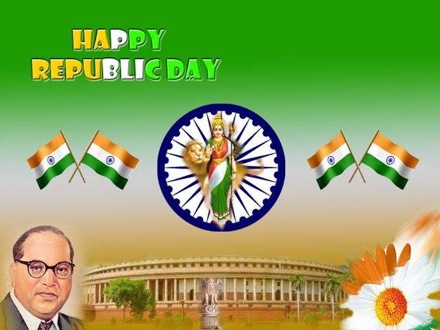 BR Ambedkar Slogan for Republic Day