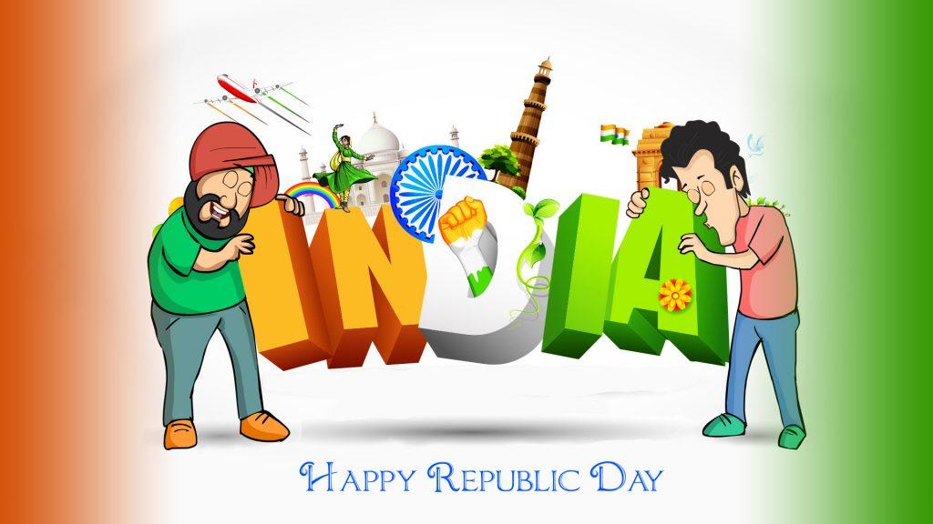 Republic Day Celebration Stock Image Free